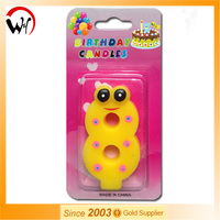 funny animal number candle snake birthday candle