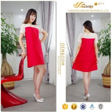Modern style new fashion plus size looser waist free size dresses for pregnant woman