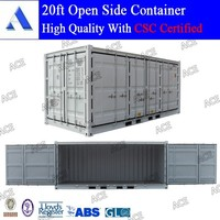 Brand new shipping container open side door