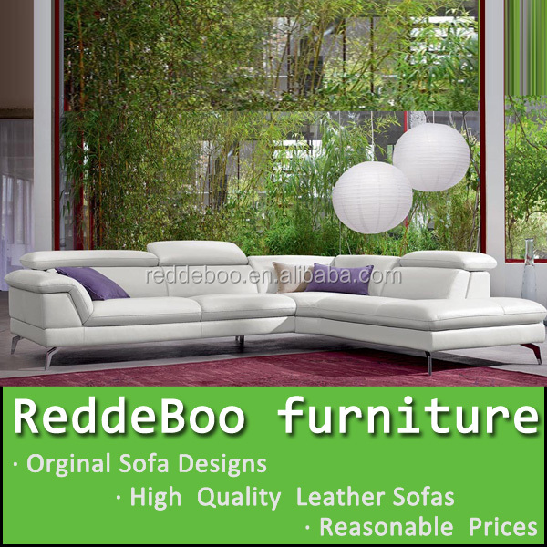 Hot Sale Modern big white U-shaped genuine leather round Corner Sofa