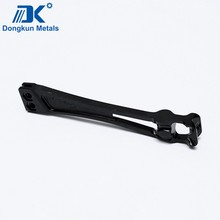 black spraying steel casting arm for auto parts