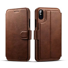 Leather wallet card slot stand flip back mobile phone case cover for iphone X 10