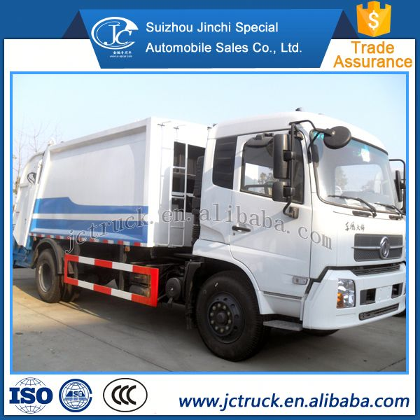China famous brand Dongfeng 10 CBM compression garbage truck capacity