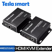USB HDMI Extender KVM over IP can extend HDMI signal up to 120 meters over single network cable
