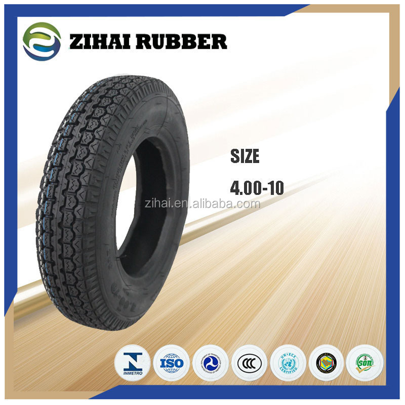 Chinese manufacturer 4.00-10 motorcycle tire tyre with ISO