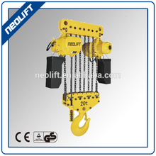 Heavy duty High Quality Double Speed 25 ton Electric Chain Hoist with remote control