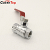 GutenTop HIgh Quality Long handle two way surface polishing zinc alloy ball valve