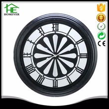 customize tire shape large black metal frame round LED light wall clock