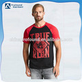 custom two tone dry fit t-shirt rubber printing men t-shirt with wholesale price