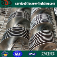 continuous cold rolled screw flight for material handling equipment
