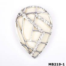 Scarves Shawls Drops Silver Tone Accessory Magnetic Brooch Clip Clasp Pin (MB219-1)