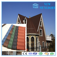 galvanized CE certificate of China factory building material stone coated metal roof tile FoShan