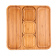 Multifunctional 5 Divided Eco-friendly Natuer Bamboo Cheese Nut Snack Dessert Fruit Plate Food Serving Tray