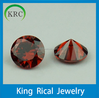 China synthetic gems cubic zirconia in garnet for jewelry rings