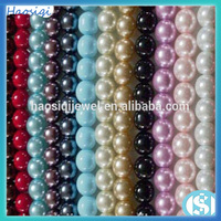 HSQ-AAA3 2015 fashion jewelry making multicolor acrylic plastic pearl beads, wholesale pearl beads
