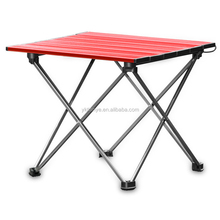 outdoor furniture lightweight mini aluminum portable folding camping table with carry bag