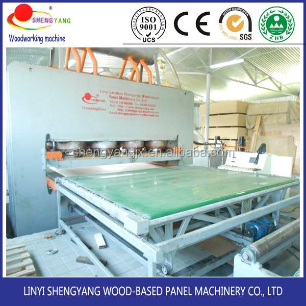 MDF board making machine laminate hot press machine