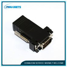 Rj45 to vga modular adapter ,h0t016 shield rj45 lan adapter connector for sale