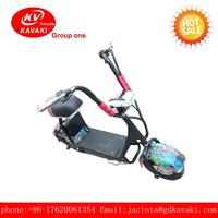 CHINA big power 2 wheel intelligent electric smart golf scooter with foldable bicycle for passenger