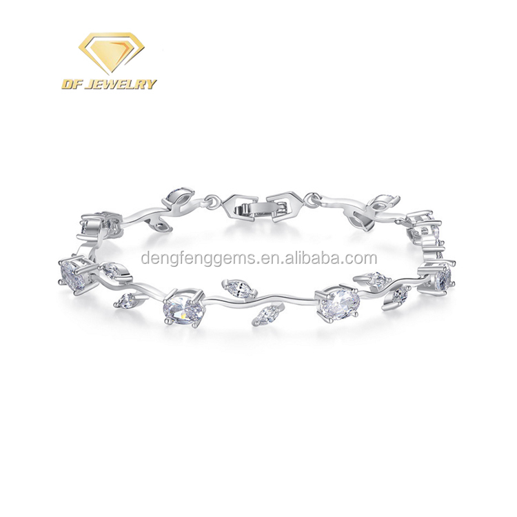 2018 Custom Mother's Day Smart Silver Oval Marquise Bracelet
