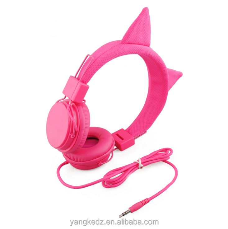 fashion cat ear shape headphone for children support customized
