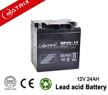 2016 best price Matrix solar battery 12v24ah agm vrla battery