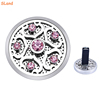 Hot sale inlaid 6 Amethyst crystal stainless Car Aromatherapy Diffuser Essential Oil Locket with Vent Clip + color felt pads