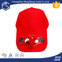 Cheap hat country cheap high quality custom solar cap with fan solar fan cap