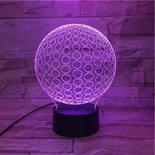 Home decoration table led light,3d illusion led night light with colorful bulb shaped holiday gift
