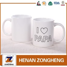 promotion 11 oz white coffee mug ceramic