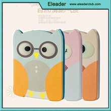 3D leather case for ipad air 2 cartoon owl