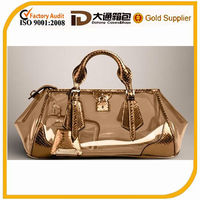 High quality brand leather tote shopping bag luxury shopping bag