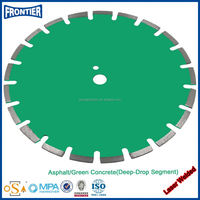 China factory price 350/400/600/800mm laser welding diamond saw blades for cutting cure/ green concrete road
