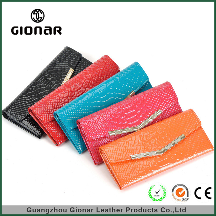 New mold custom gionar purse lates leather womens pu wallet bags