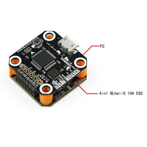 Kingkong 20*20mm F3 Flight Controller with 4in1 BLheliS 10A ESC 2-3S