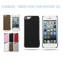 Case For Apple iPhones Compatible Brand & Chrome Material Carbon fiber case for iphone 5 5G