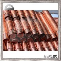 flexible copper (T2 TP2) corrugated hoses / bellows / pipes / tube for heat exchange