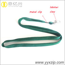 lovely green metal swivel hook hollow tape shoelace lanyard with your style