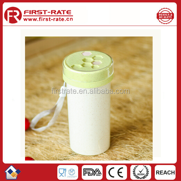 Wheat plastic water bottle new food grade