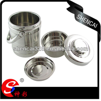 Stainless steel straight type insulated / vacuum lunch box