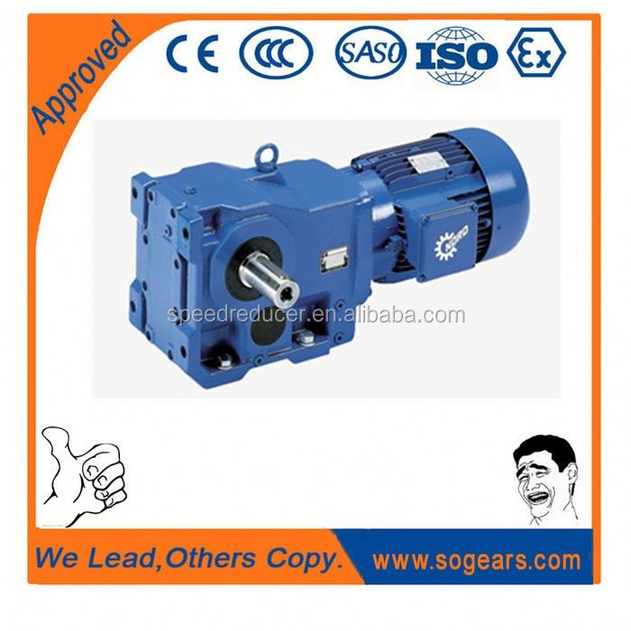Long service time Helical - bevel K Series 1 hp gear motor with speed control