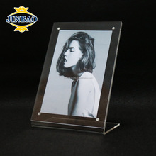 JINBAO clear plastic blank acrylic photo frame fridge magnets with picture insert