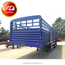3 Axle Box Van Type Enclosed fence Cargo Semi Trailer With Siding Curtain