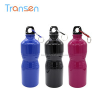 Promotion sport drink bottle insulated stainless steel water bottle customized aluminum bottle with carabiner
