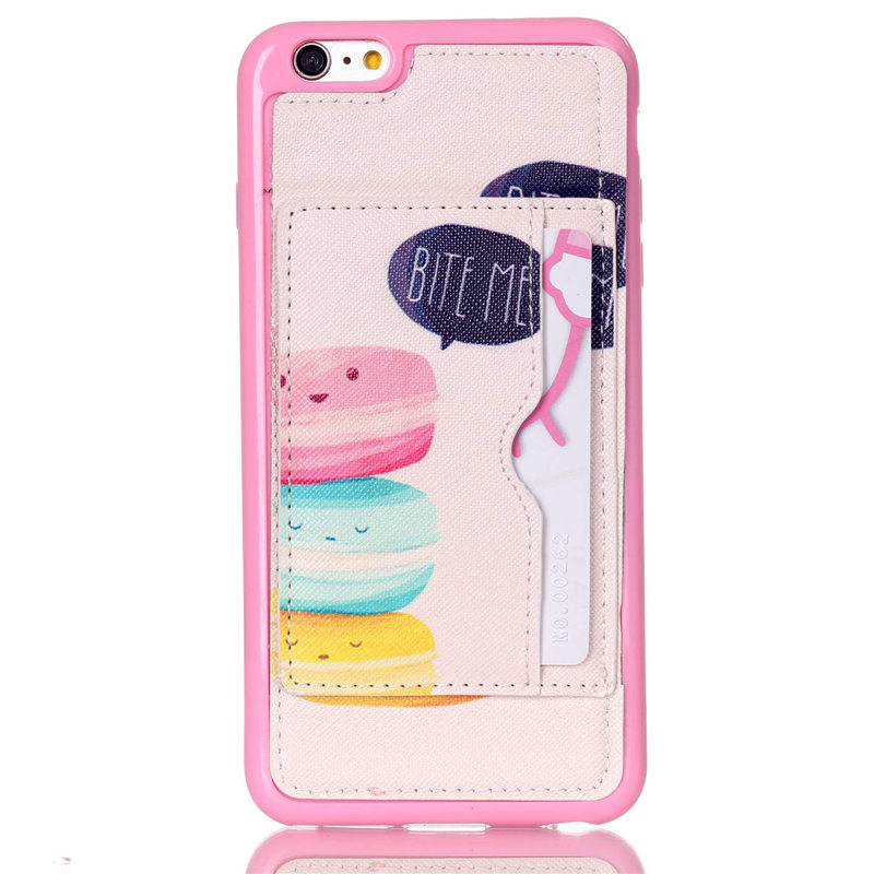 For iphone 6 plus/6s plus,in stock colorful plastic bumper pu leather cover for iphone 6 Plus/6s Plus with kickstand