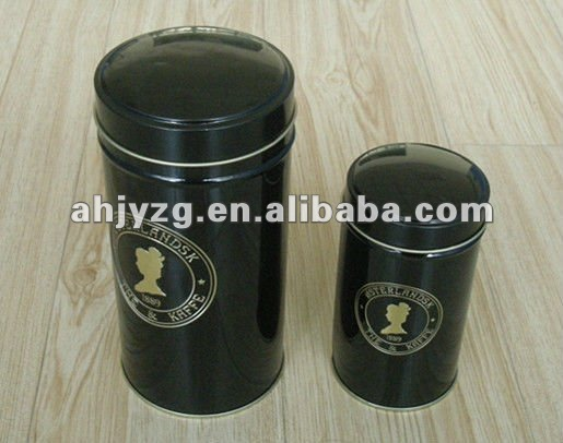 round shape package printed tea tins