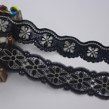 Necklace lace accessories Black and white delicate water-soluble lace trimming polyester cotton lace border