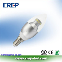 e12 to e26 leds lighting warm white 2700K 530lm 6W candle bulb