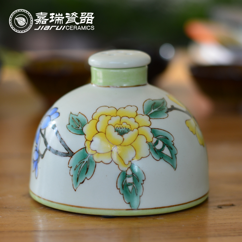 Hand painted ceramic aroma oil diffusser for home decor