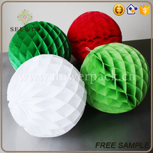 Christmas Paper Honeycomb Flowers Ball decoration